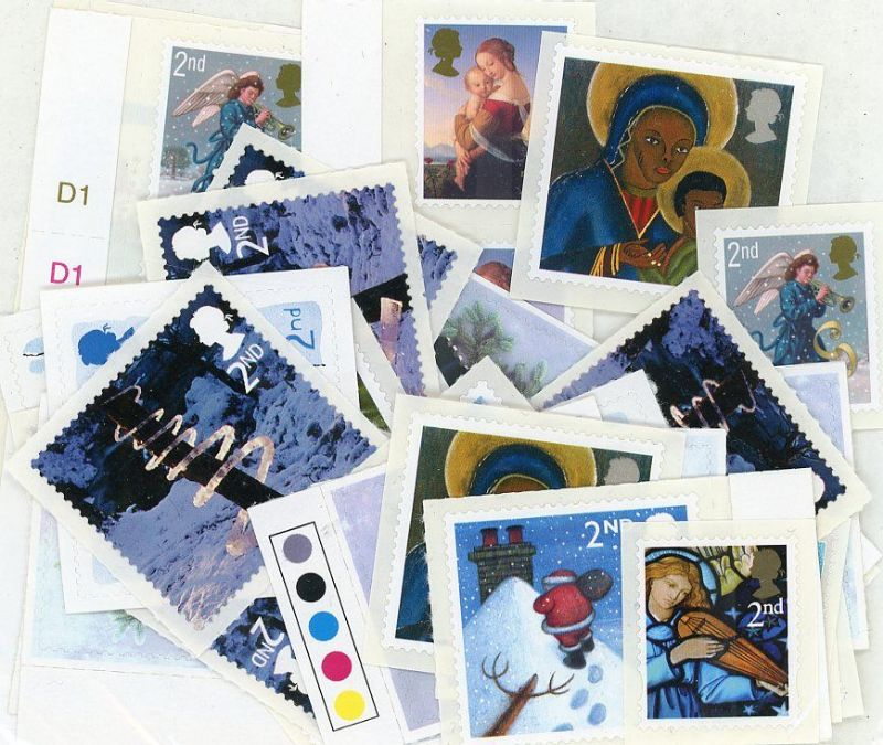 100 x 2nd Class Self-adhesive Christmas Stamps worth £61